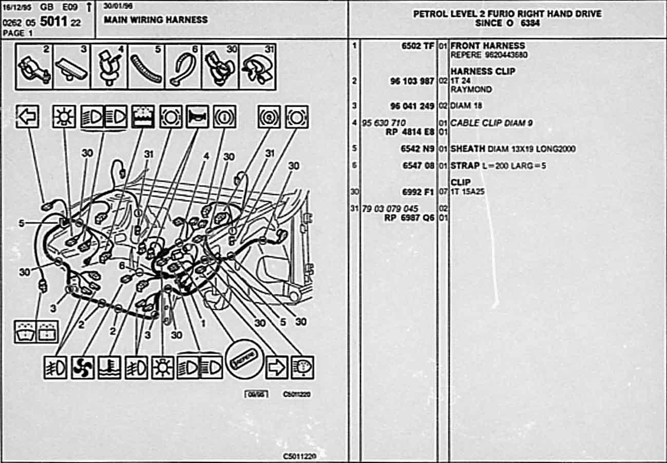 Citroen Ax Parts List 5 Raymond Wiring Diagram 05 5011